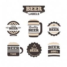 六个复古风格啤酒标签