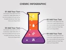 创意锥形瓶信息图