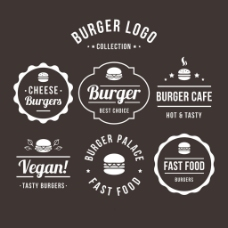 各种创意汉堡包标志