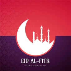 开斋节伊斯兰元素彩色背景
