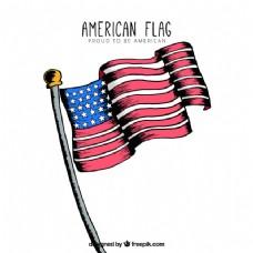 美国国旗的装饰背景