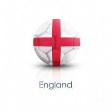 英格兰国旗足球贴图矢量素材