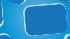 蓝色边框几何背景