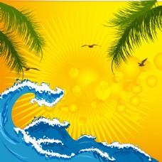 夏季海浪背景
