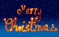金色圣诞节艺术字体图片