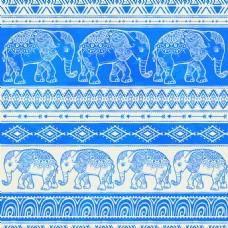 蓝色艺术大象背景