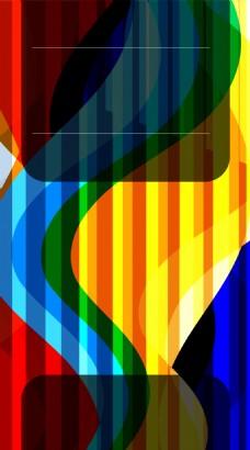 彩色渐变线条背景