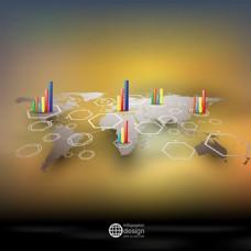 地图图标矢量背景