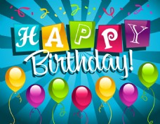 生日快乐气球背景
