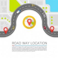 道路位置导航模板矢量