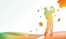 彩色渐变高尔夫背景