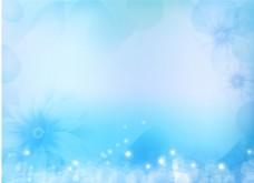简约蓝色花朵背景