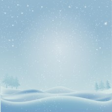 浪漫雪花山林背景