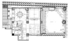 现代简约室内装修手稿图
