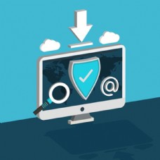 平面互联网个人信息安全海报