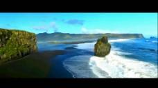 美丽的星球地貌河流冰山火山坑视频素材1