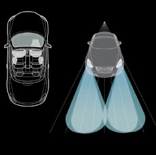 汽车线框图汽车矢量图汽车素描图