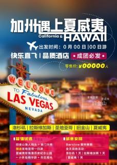 加州夏威夷旅游海报