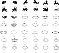 黑白线条装饰图案