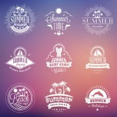 夏日暑假旅游标签背景图