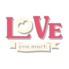 爱情字母元素