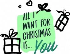 礼物圣诞节卡通手绘风格小清新图标
