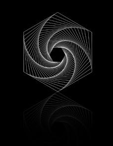 六边形 旋转放射素材