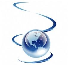 蓝色企业商务ppt矢量图标装饰图案素材