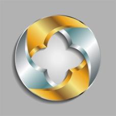 圆形花形标志图片