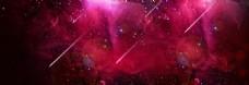 红色星空淘宝背景
