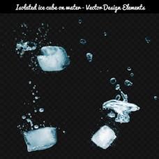 白色冰块背景图