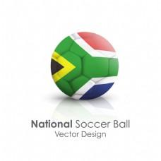 南非国旗足球贴图矢量素材