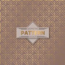 闪亮的金色阿拉伯装饰图案