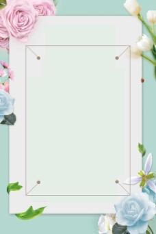 画册花朵树叶百合玫瑰花素材
