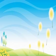夏季草地蒲公英背景