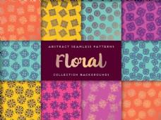五颜六色的花卉装饰图案背景