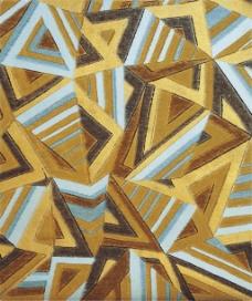 金色三角形条纹图片