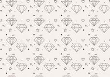 手绘线性钻石背景素材
