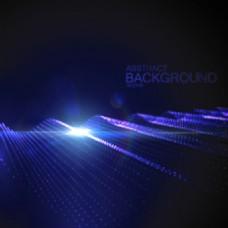 科技发光星空背景矢量素材