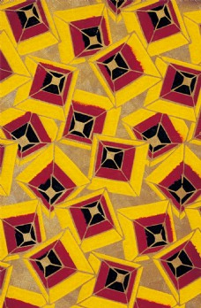 黄红几何菱形背景图片