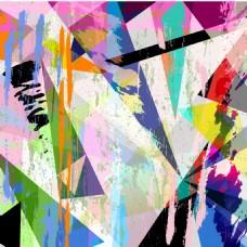 彩色手绘几何背景