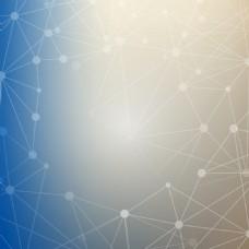 灰蓝原子构造科技矢量背景素材
