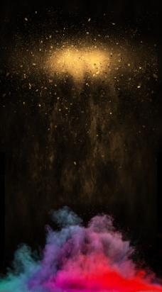 创意油彩烟雾海报