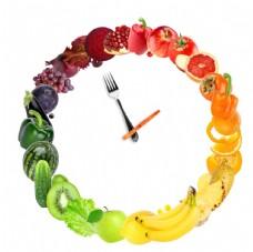 創意時鐘水果拼盤