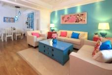 创意客厅沙发背景墙设计图