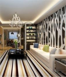 现代客厅装饰模型设计