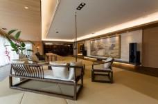 新中式简约客厅沙发背景墙设计图