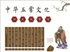 中华五常文化墙