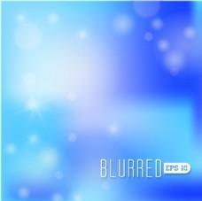 蓝色渐变唯美虚化背景矢量