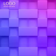 红紫色渐变方块线条庆祝主图背景psd素材